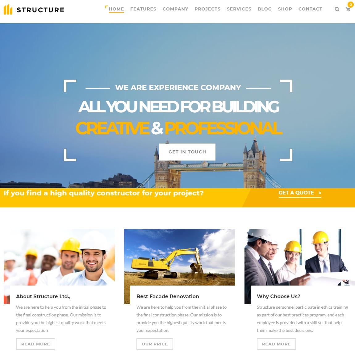 structure-WordPress-construction-theme