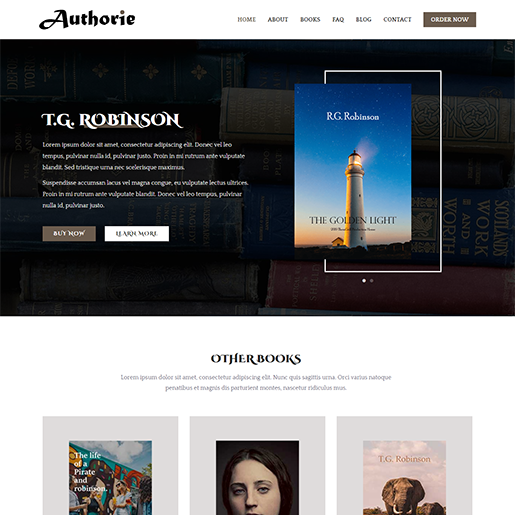 Zakra Book Author WordPress Theme