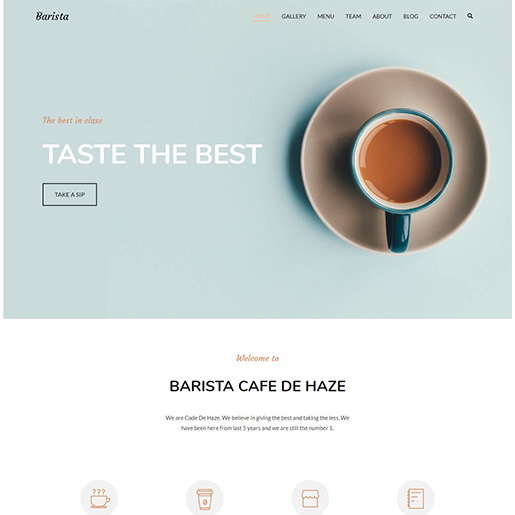 Zakra Cafe WordPress Theme