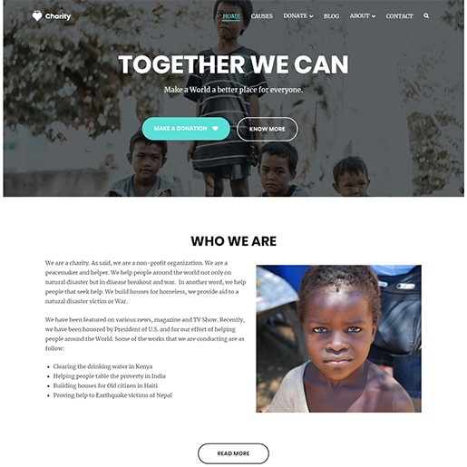 Zakra Charity WordPress Theme