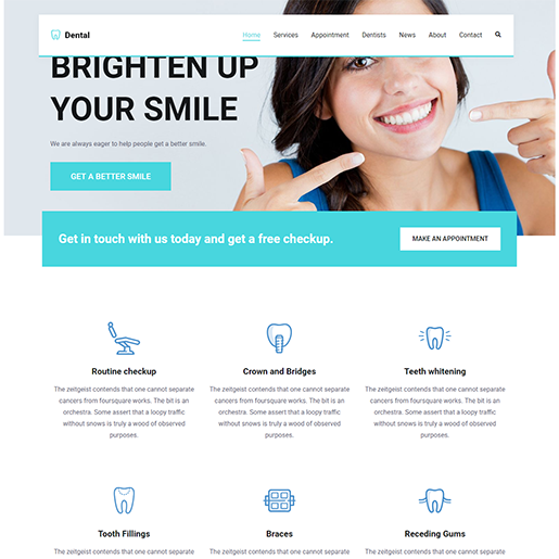 Zakra Dentist WordPress Theme