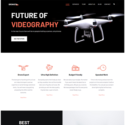 Zakra Drone WordPress Theme