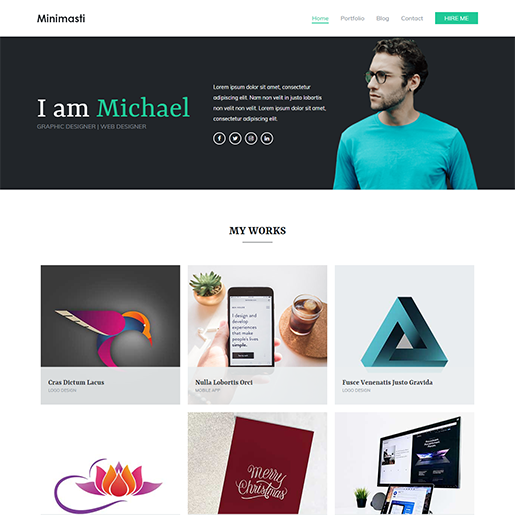 Zakra Minimal Portfolio WordPress Theme