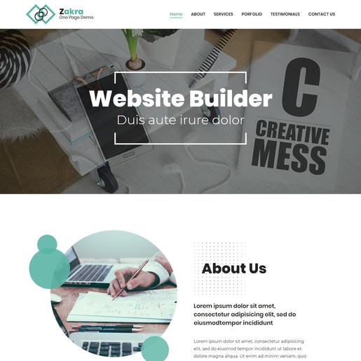 Zakra One Page Free WordPress Themes