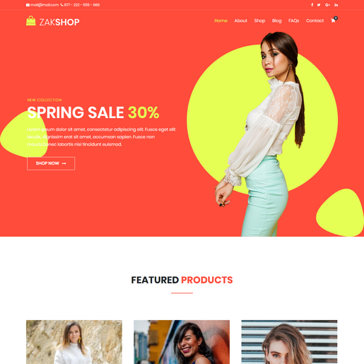 Zakra Shop V2 Free WordPress Theme
