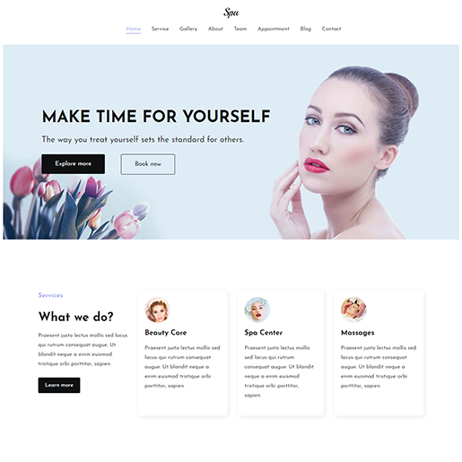 Zakra Spa WordPress Theme