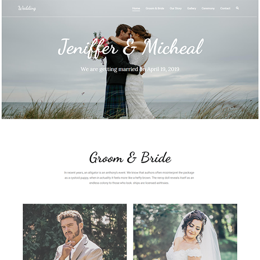 Zakra Wedding WordPress Theme