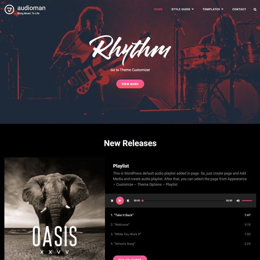 audioman free wordpress themes