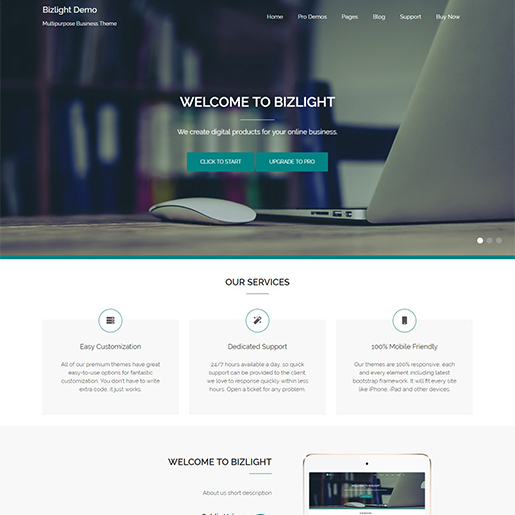 bizlight-free-responsive-wordpress-theme
