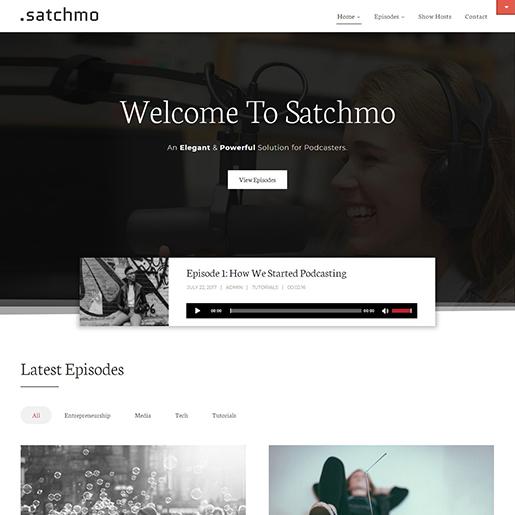 Satchmo-WordPress-Podcast-theme