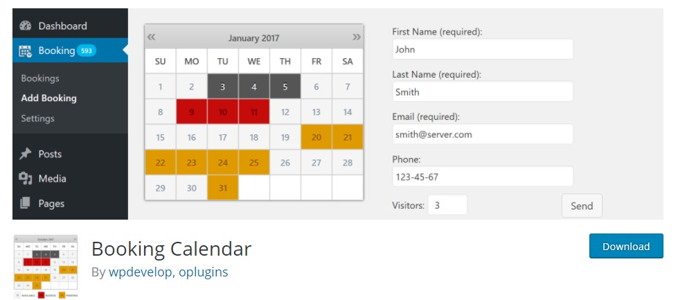 booking-calendar-restaurant-reservation-wordpress-plugin