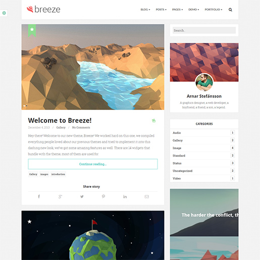 breeze-wordpress-themes-for-writers