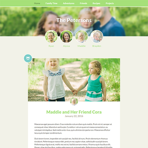 family-blog-wordpress-themes-for-writers