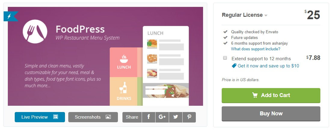foodpress-restaurant-reservation-wordpress-plugin