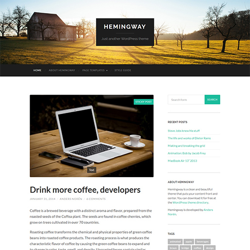 hemingway-wordpress-themes-for-writers