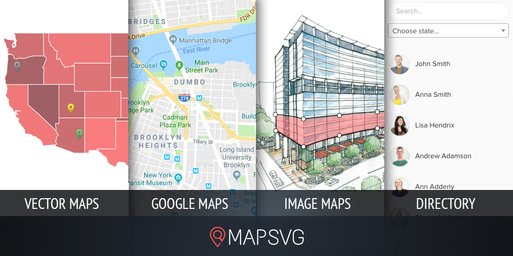 MAPSVG WordPress Google Maps-plug-in