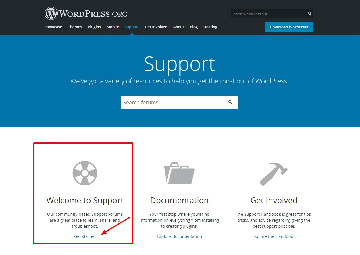 wordpress-support-forums