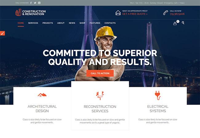 Construction-fast-loading-wp-theme