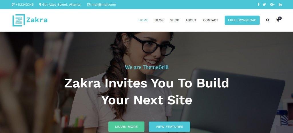 Zakra Fastest WordPress Theme