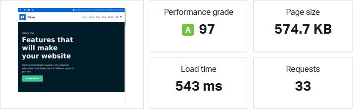 Neve Speed Test