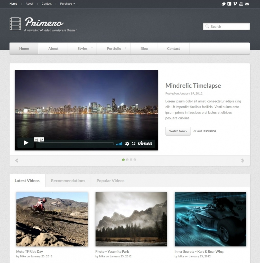 primero-WordPress-video-theme