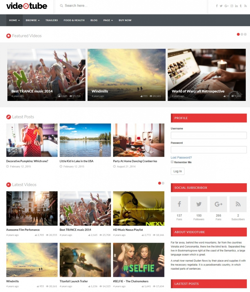 videotube-wordpress-video-theme