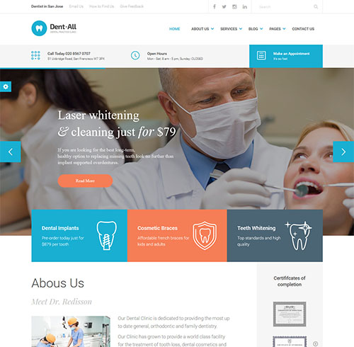 Dent-All-wordpress-medical-theme