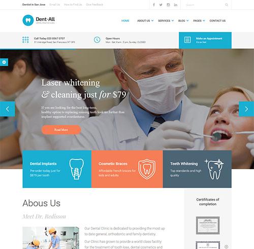 Dent-All-wordpress-medical-theme