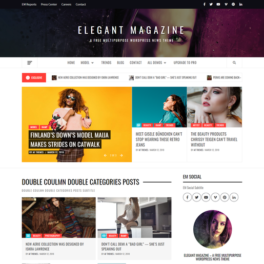 Elegant Magazine Best WordPress News Theme