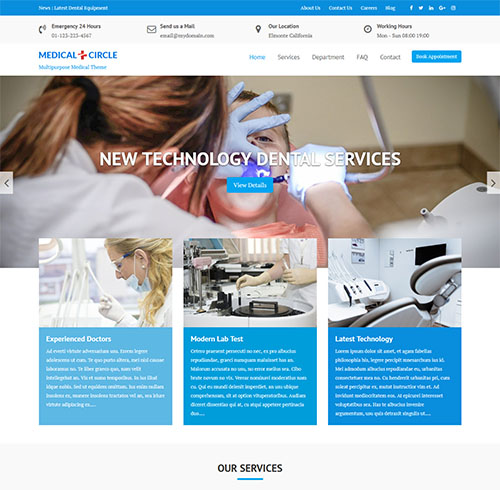 Medical-Circle-wordpress-theme