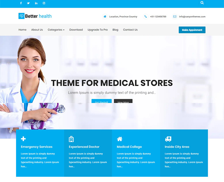 better health free wordpress themes