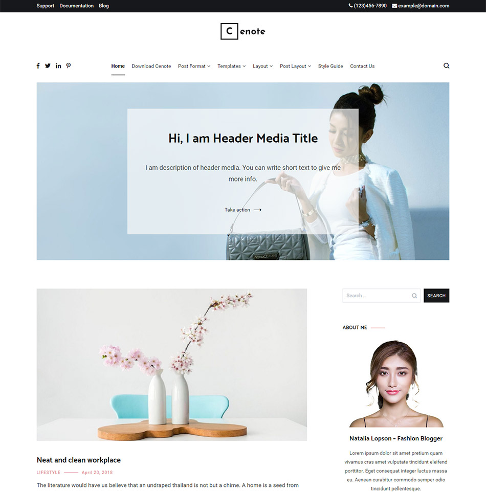 cenote-best-free-wordpress-theme