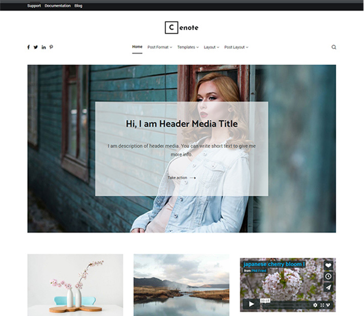 cenote-wordpress-blog-tema