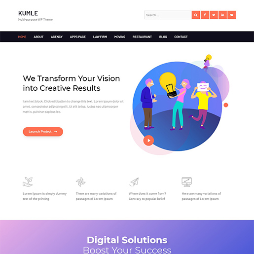 kumle multipurpose wordpress theme