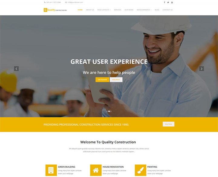 quality construct best wordpress theme