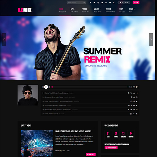 remix-music-wordpress-music-theme