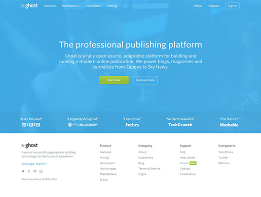 ghost-wordpress-alternatives