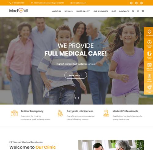 medic medical wordpress themes