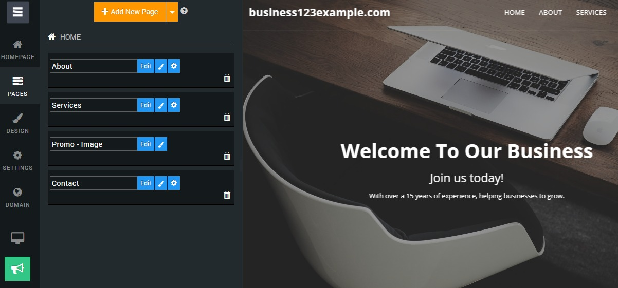 pages-sub-menu-free-website-builder-site-123