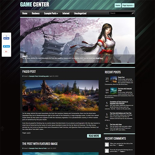 WordPress-Gaming-Themes-Gamecenter