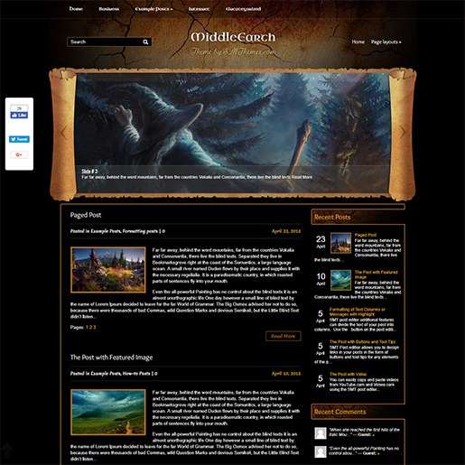WordPress-Gaming-Themes-MIddleEarth