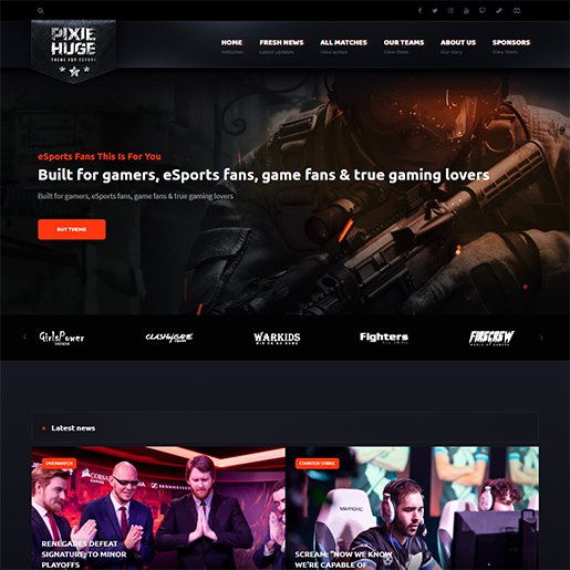 WordPress Gaming Themes PixieHuge