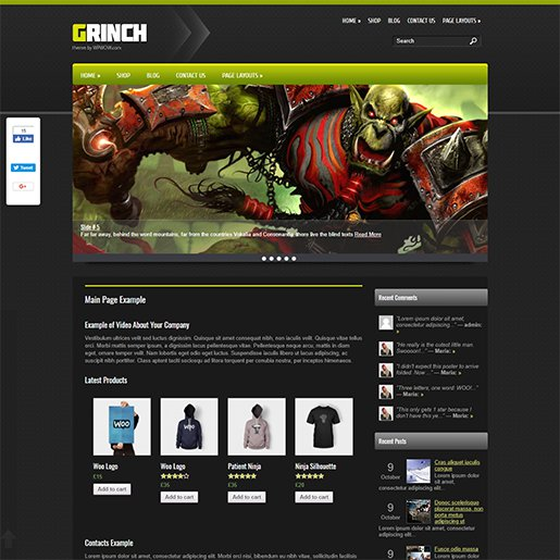 WordPress Gaming Themes grinch
