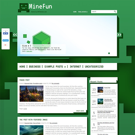 WordPress Gaming Themes minefun