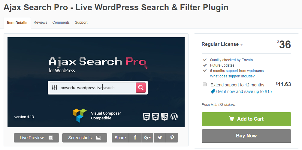 Ajax Search Pro-WordPress Search Plugin