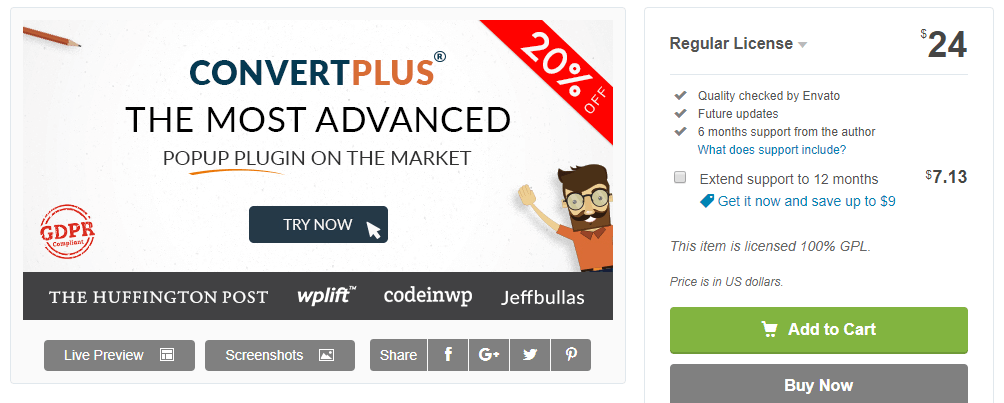 Convertplus-WordPress Popup Plugins
