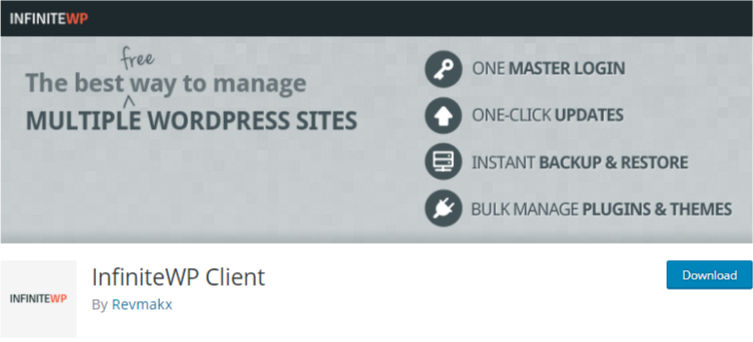 manage multiple WordPress sites Plugin InfiniteWP