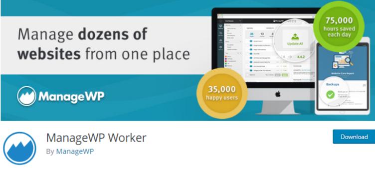 manage multiple WordPress sites Plugin manageWp