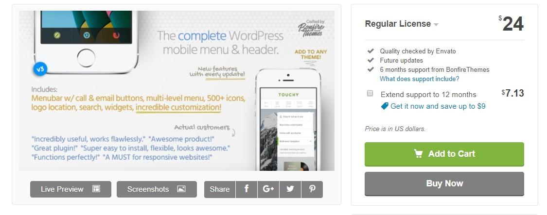 touchy-wordpress-mobile-plugin