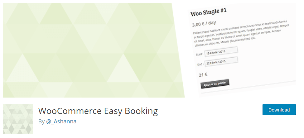 WooCommerce Easy Booking-WordPress Booking Plugins